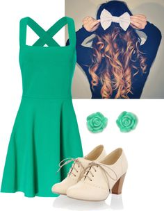 """""""Green Tea Party outfit"""" by sarah-marcus on Polyvore"""