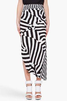 WAYNE Optic Flowing Silk Skirt