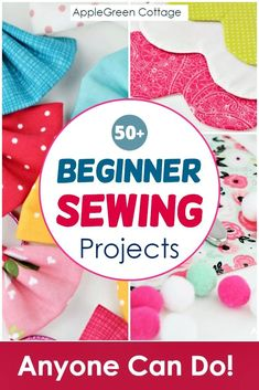 More than 50 free beginner sewing projects with free sewing patterns that are quick and easy to sew even if you are a sewing beginner. From easy pouch patterns, face wipes, cosmetic pads, coasters, ha Beginner Sewing Patterns, Sewing Patterns For Kids, Sewing Basics, Sewing For Kids, Sewing Tutorials, Free Sewing, Free Printable Sewing Patterns, Basic Sewing, Dress Tutorials