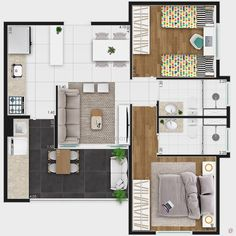 Little House Plans, Small House Plans, House Floor Plans, Studio Apartment Floor Plans, Apartment Plans, Apartment Design, Home Building Design, Home Design Plans, Building A House