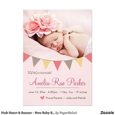 new baby announcement cards