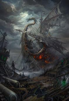 Lost Ships Town, Igor Artyomenko on ArtStation at http://www.artstation.com/artwork/lost-ships-town