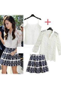 Three Piece Set Blouse + Skirt + Sling Top – Closet Diaries