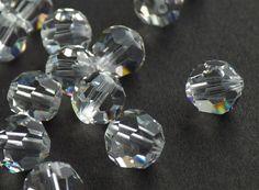 Vintage Swarovski Crystal Beads 6mm Crystal by CreationsByDevlin