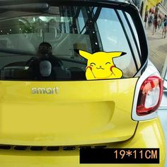 Pokemon Car Sticker Pikachu Funny Face