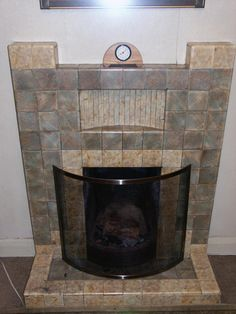 tiled fireplaces Yahoo Image Search Results Fireplaces