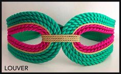 #Louvermarbella#complementos#cinturon#cordon#verde#fucsia Rope Jewelry, Diy Jewelry, Jewelry Making, Textile Jewelry, Fabric Jewelry, Head Accessories, Handmade Accessories, Fashion Belts, Diy Fashion