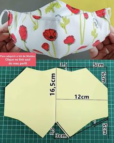 Small Sewing Projects, Sewing Hacks, Sewing Tutorials, Sewing Crafts, Easy Face Masks, Diy Face Mask, Costura Fashion, Diy Mask, Fashion Sewing