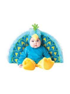 Baby's Precious Peacock Costume, Blue/Yellow, Small