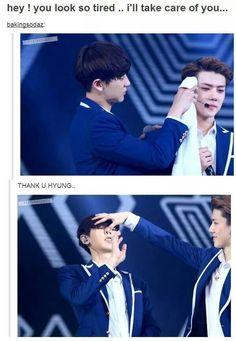 #Chanyeol #Sehun #EXO #KPOP #Meme #Cute #Tumblr