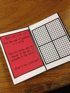 Quadratic Equations Mini Book (free!!!) from Andrea of For the Love of Teaching Math.