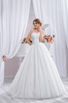 "Wedding dress by Belleza e Lusso. Collection ""Piano"" / Свадебное платье от Belleza e Lusso. One Shoulder Wedding Dress, Evening Dresses, Tulle, Wedding Dresses, Collection, Piano, Design, Random, Fashion"