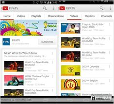 Best Android Apps to Enjoy FIFA 2014 World Cup - Get general coverage of FIFA events on their YouTube channel.