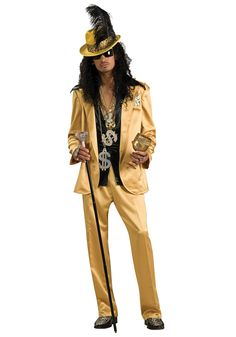 38f1ccf09bcf Gold Hustlah Pimp Costume Pimp Costume Men