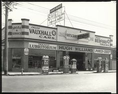 Motors, Hugh Williams Pty Ltd, 71 Hopkins Street, Footscray. Bedford Truck, Melbourne Suburbs, The 'burbs, Old Gas Stations, Melbourne Victoria, Old Buildings, Historical Photos, Old Photos, History