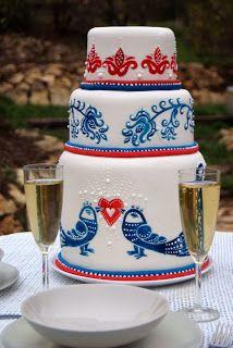 blue-bird wedding cake Cake Cookies, Cupcakes, Cake Art, Art Cakes, Blue Bird, Wedding Cakes, Mugs, Tableware, Folk Art