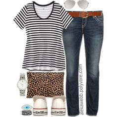 """#plus #size #casual #outfit """"Plus Size - Stripe T"""" by alexawebb on Polyvore"""
