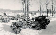 good looking old log trucks