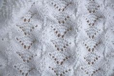 Reversible Lace Baby Blanket | Craftsy