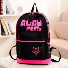 stacy bag hot sale best selling women letter printing travel backpack student school bag nylon casual bag ladies travel bag $8.00