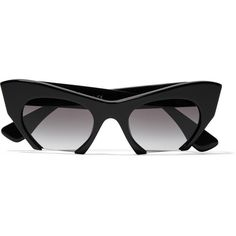 Miu Miu Cat-eye acetate sunglasses (2 840 ZAR) ❤ liked on Polyvore featuring accessories, eyewear, sunglasses, black, black cat eye glasses, black glasses, cateye glasses, cateye sunglasses and black sunglasses
