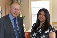 Shamshad with Paul Burrows at the Ruddington Business Partnership