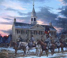 "John Paul Strain ""Defenders of the Valley""; Stonewall Jackson, Turner Ashby, Jedediah Hotchkiss; Woodstock, VA, 1862"