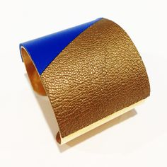 LATI - Cuir doré/gitane + laiton doré 49 mm