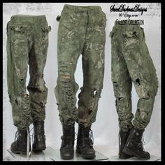 Post Apocalyptic PANTS MENS Vietnam Army Pant Mad Max Pants Fallout Pants SIZE 34x33 Military Zombie Wasteland Pants by SweetDarknessDesigns
