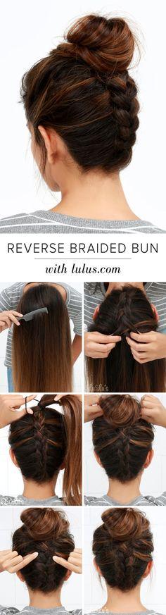 LuLu*s How-To: Reverse Braided Bun Hair Tutorial