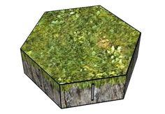 MechCommander 2 - Hex Hills 10mm for Diorama Free Paper Model Download