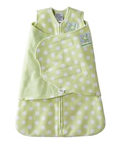 Another great find on #zulily! Halo Green Polka Dot SleepSack Swaddle - Infant by Halo #zulilyfinds