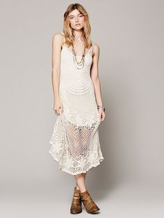 Sunny Day #Crochet Dress from Free People - DIAGRAM - available upon request, contact the shop owner.