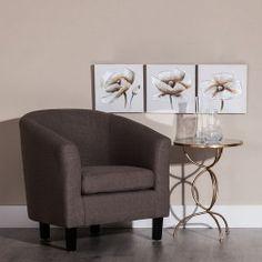 http://www.nuryba.com/ Cuadros Flores Grises I, tríptico lienzo pintura al óleo
