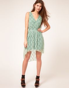 Lace Wrap Hi Lo Dress