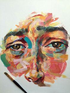 painting an absurd face Painting Inspiration, Art Inspo, Art Sketches, Art Drawings, Gcse Art Sketchbook, Art Watercolor, Art Disney, Art Plastique, Portrait Art