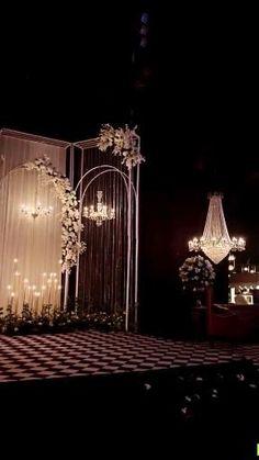 Reception Stage Decor, Wedding Backdrop Design, Wedding Stage Design, Backdrop Decor, Wedding Reception Backdrop, Wedding Entrance, White Wedding Decorations, Desi Wedding Decor, Starry Wedding