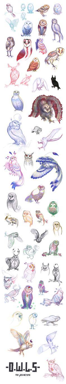 tumblr sketchdump : owl design by *mariposa-nocturna on deviantART