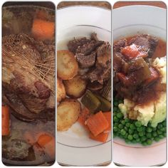 A good cut of #beef made into #potroast: as #dinner yesterday with #roasted #potato and as today's lunch with #mashed spuds. #awesome #delicious #domesticdude #eatright #food #foodie #foodporn #gravy #madeathome #meal #meat #peas #redmeat #yummy