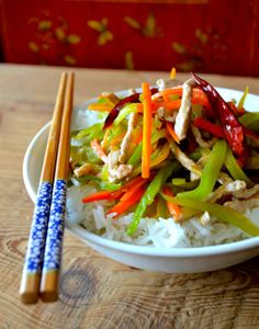 Chinese Shredded Pork Stir-fry, can be substitute with shredded chicken, a super simple, easy weeknight dinner.