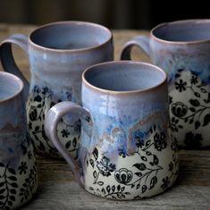 I heart mugs (Kentia Naud - Creative Ceramics) Pottery Mugs, Ceramic Pottery, Ceramic Cups, Ceramic Art, Earthenware, Stoneware, Coffee Cups, Tea Cups, Clay Mugs
