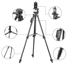 YUNTENG 5208 Aluminum Tripod with 3-Way Head & Bluetooth Remote + clip for Camera Phone  Price: 41.99 & FREE Shipping #computers #shopping #electronics #home #garden #LED #mobiles #rc #security #toys #bargain #coolstuff |#headphones #bluetooth #gifts #xmas #happybirthday #fun
