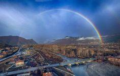 Arcobaleno sulla Valle di Susa  #myValsusa 04.01.18 #fotodelgiorno di Claudio Allais