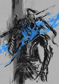 the wolf knight - - - - - - - - - - - - - - tags: darksouls souls soulsborne ashenone estus hollow knight sword flame ds youdied cinder lord fire soul Sif Dark Souls, Dark Souls Artorias, Arte Dark Souls, Dark Fantasy Art, Dark Art, Magia Elemental, Soul Saga, Bloodborne Art, Soul Tattoo