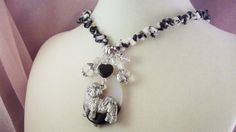 SHIH TZU -j13- Dog-  Charm Necklaces- FREE Shipping -  Puppy Clip - Charms - Handmade by Artisan - Last One by HOBBYHORSELADY on Etsy