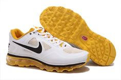 Nike Air Trainer 1.3 Max Breathe Mens Running Shoes 512241 107 White/Black/Yellow