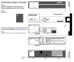 Rocket Mass Heater sectional perspectives