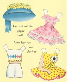 """Buzza """"To a SWEET GIRL"""" PAPER DOLL EASTER Card (SWEET GIRL 2 of 3)"""