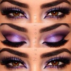 Purple eyeshadow brown eyes