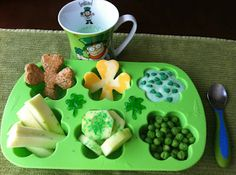 Green St. Patrick's Muffin Tin Lunch